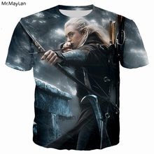 Elfing Prince Legolas Greenleaf Orlando Bloom เสื้อยืด 3D พิมพ์ Lord of the Rings tee tshirt Men t เสื้อ Tops 2018 เสื้อผ้า(China)