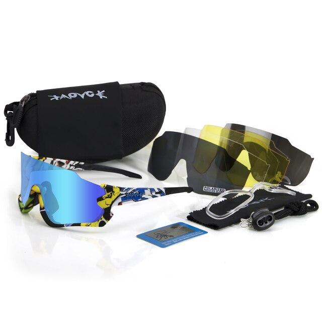 Kapvoe polarizado ciclismo óculos de sol homem mulher esporte mtb bicicleta ciclismo óculos de pesca equitação gafas 1