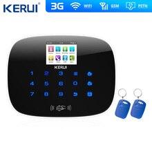 W193 3G 4G WIFI PSTN GSM SMS alarma de ladrón para hogar, pantalla táctil LCD GSM SMS alarma de seguridad del hogar Sistema de intrusión Control con aplicación