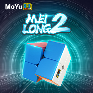 Original MoYu Meilong 2 2x2x2 Yongjun Magic cube Meilong stickerless speed cube puzzle Children Gift Adult Educational Toys