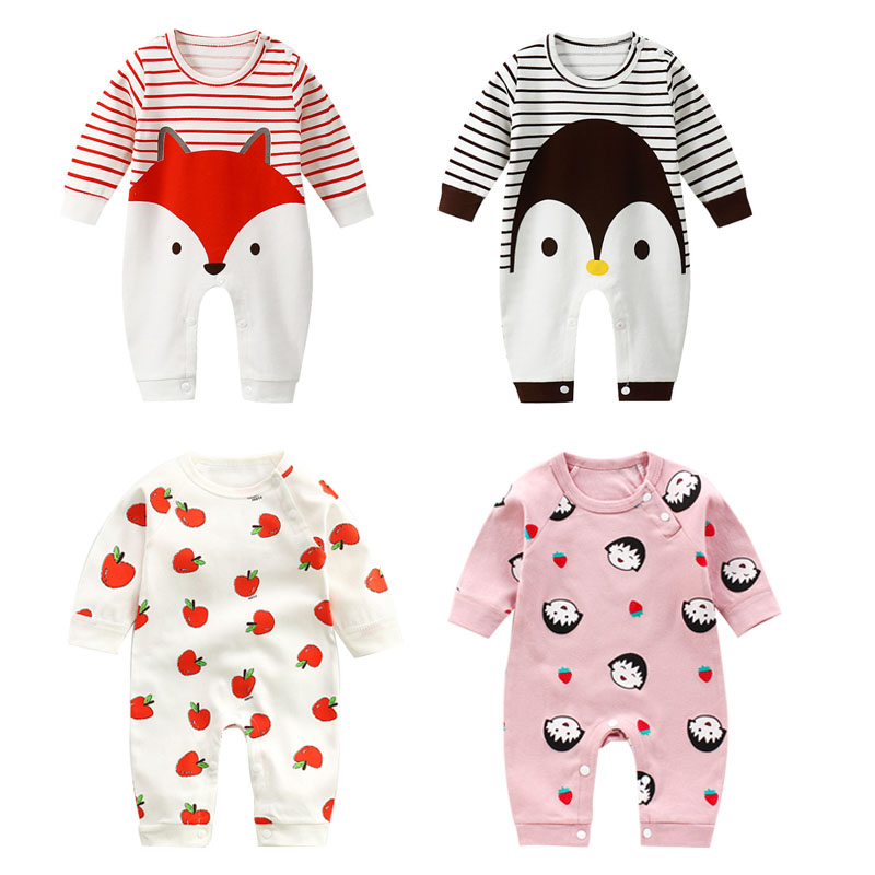 Baby Rompers Newborn Jumpsuit Baby Girl Sleeve Babysuits  One-Piece Outfit Playsuit Infant Clothing