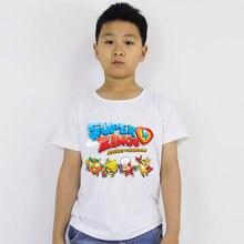 Популярные летние детские футболки с принтом супер зингс; Детские