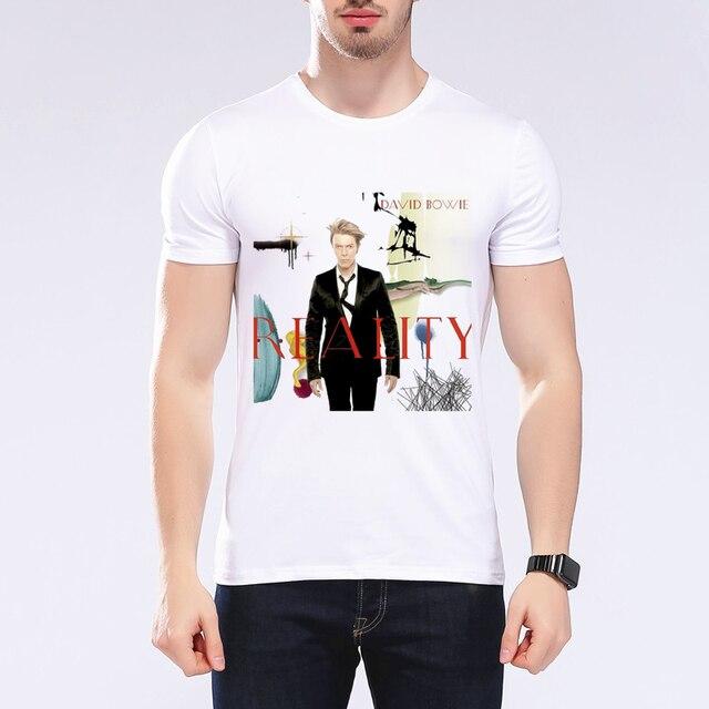 2019 été nouveau caractère de mode impression t-shirt hommes david bowie star design T ahirt hauts musique t-shirts marque blanc t-shirt L9J67