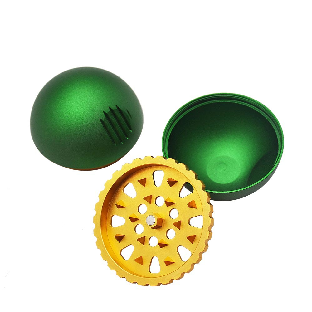 New 3 Piece metal ball type grinding machine 63mm zinc alloy grinder herb grinder With Pollen Scraper 6