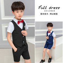 Baby Formal Jacket 2019 Summer Cotton Boy Suits Vest+Pant Mealladh na mBuachailli
