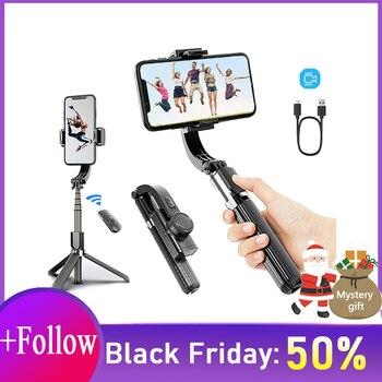 Gimbal Selfie stick Universal Handheld Smartphone Stabilizers Wireless Bluetooth Stick Phone Stabilizer Single Handgrip
