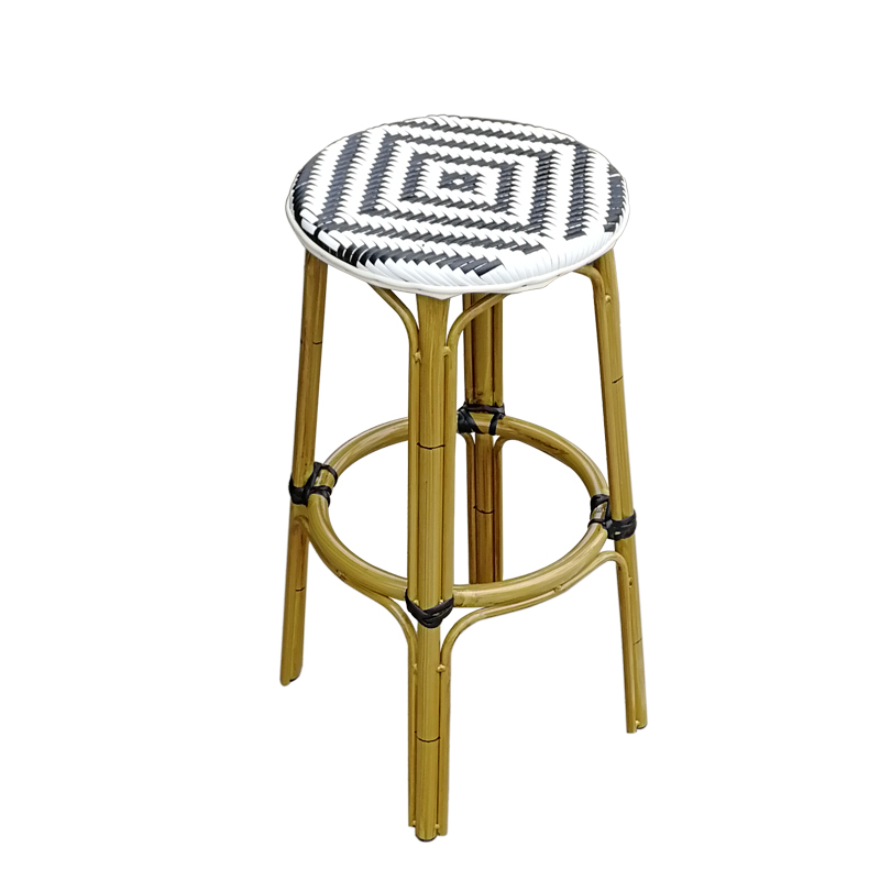 Bar Chair Dining Table Handmade Rattan  Bar Stool High  Nordic Simple   Coffee Shop Light Luxury