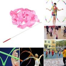 4 м красочные ленты для спортзала, танцевальная лента, художественная гимнастика, балетный стример, Вертлюг, палочка для профессиональных тренировок в тренажерном зале
