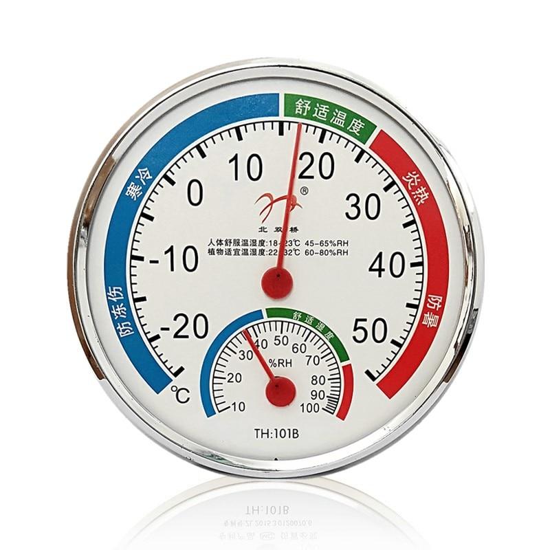 Термометр-Гигрометр, домашний промышленный Измеритель температуры и влажности в помещении, точный настенный для теплиц и аптеки