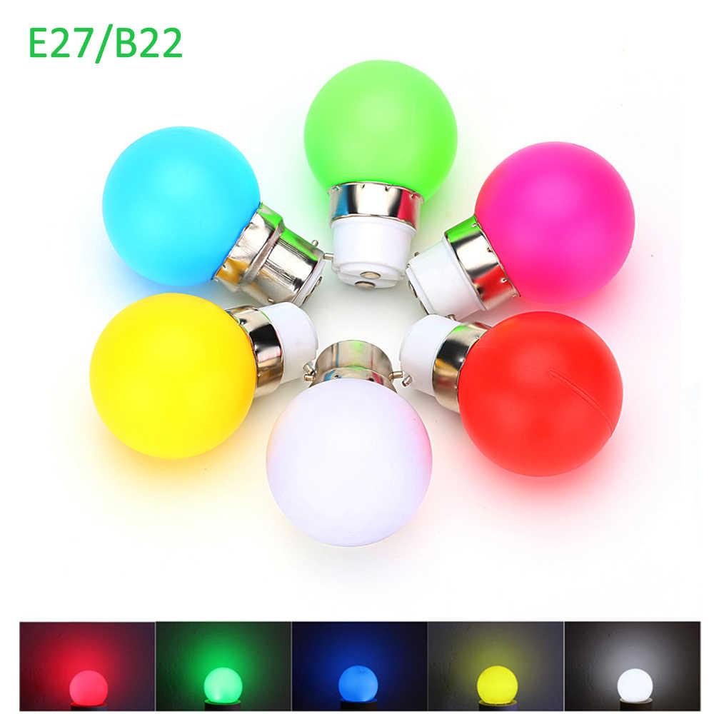 G45 LED Light B22/E27 1WประหยัดพลังงานMINIหลอดไฟ 110-220V Night Lightตกแต่งสีขาว/สีแดง/สีฟ้า/สีเขียว/สีเหลือง/สีชมพู 10 ชิ้น/ล็อต