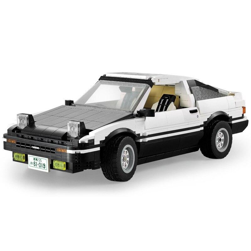 CaDA C61019W 1234 шт 1/12.5 высокая симуляция AE86 дрейф гоночный автомобиль техника здание блокирует обучение обучающая игрушка для детей подарок