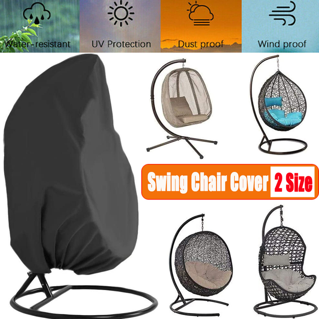 Waterproof Outdoor Garden Hanging Egg Rattan Swing Patio Chair Dust Cover With Zipper Protective Case For Outdoor Furniture 1
