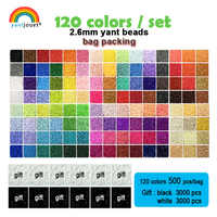 Yantjouet 2.6mm EVA Mini Beads kit 120colors/set for Kid Hama Beads Perler Beads Diy Puzzles Iron Beads Gift children