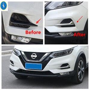 Image 2 - Chrome/Sợi Carbon Nhìn Trước Đèn Sương Mù Đèn Mí Mắt Lông Mày Sọc Bao Viền Phù Hợp Cho Xe Nissan Qashqai J11 2018 2019 2020