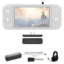 GuliKit NS07 Pro Route Air bezprzewodowy Adapter Audio nadajnik Bluetooth wsparcie głosowe czat USB C Adapter do przełącznika Nintendo PS4
