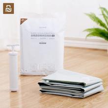 Youpin Quange домашний вакуумный мешок для хранения одежды, Сумка с клапаном, прозрачная рамка, складные, сжатые, экономия пространства мешки