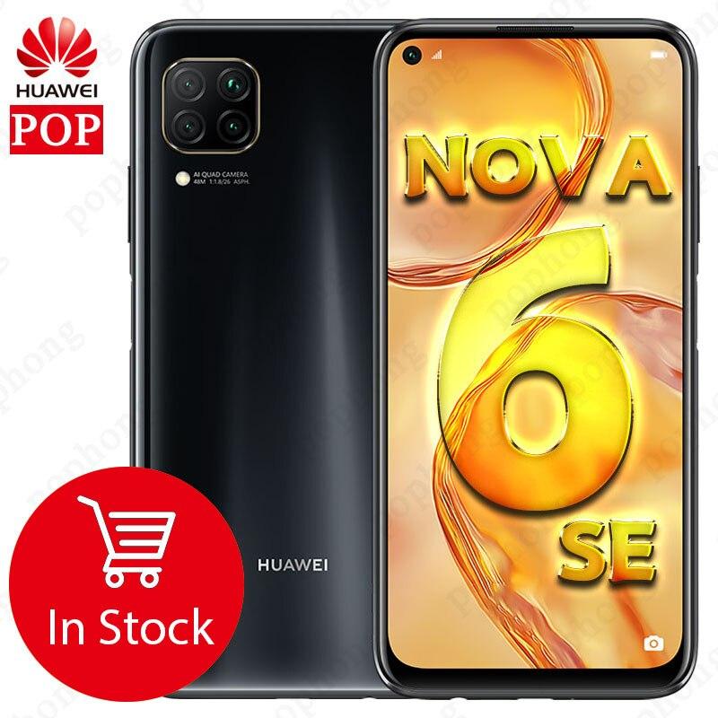 HUAWEI Nova 6 SE мобильного телефона 6,4 дюймов Kirin 810 Octa Core Android 10,0 отпечатков пальцев разблокированная|Смартфоны| | АлиЭкспресс