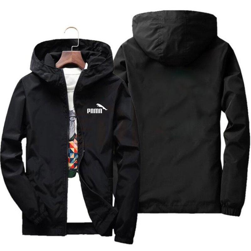 New Brand 2020 Spring Summer Men Jacket Thin Windbreaker Jaqueta Masculina Slim Fit Mens Hooded Bomber Jacket Mens Plus Size 6XL