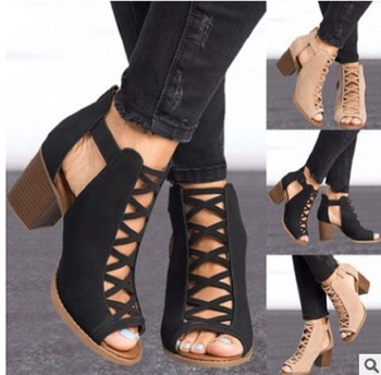 women sandals open toe high heel shoes ladies gladiator sandals square heel pumps summer shoes sandalias mujer womens high heel summer shoes single strap open toe sandals street shoes snake grain pattern yellow street sandals