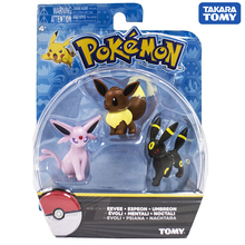 TAKARA TOMY Japan Anime Eevee Figure Collectibles Pocket Monster Pokemon Dolls for Children Gifts