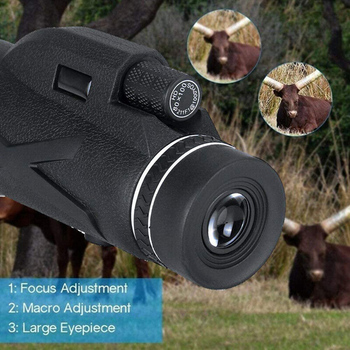 Professional Telescope  80x100 HD Night Vision Monocular Zoom Optical Spyglass Monocle for Sniper Hunting Rifle Spotting Scope 5
