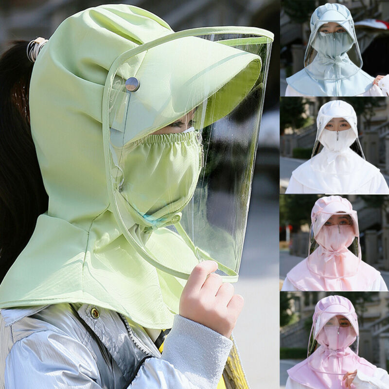 Parent-child Protective Mask Safety Hat Anti Fog Dust Splash-proof Hat Face Protection Cap Removable Epidemic Prevention Hat