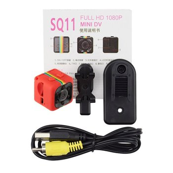 SQ11 Mini Camera 1080P Sport DV Mini Infrared Night Vision Monitor Concealed SQ11 Small Cameras DV Video Recorder Cam image