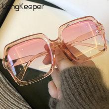 Солнечные очки longkeeper оверсайз для женщин роскошные модные