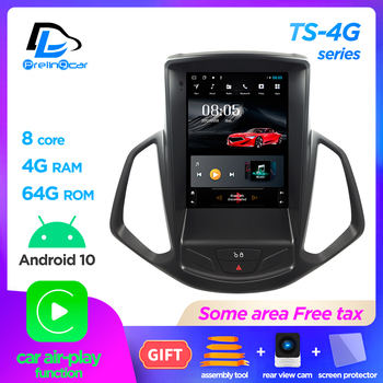 4G Lte Vertical screen android 10.0 system multimedia video radio player for ford Ecosport 2014-2018 years navigation stereo image
