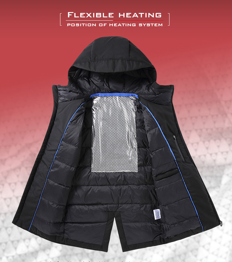 casaco hoodied parka inverno térmico quente jaqueta