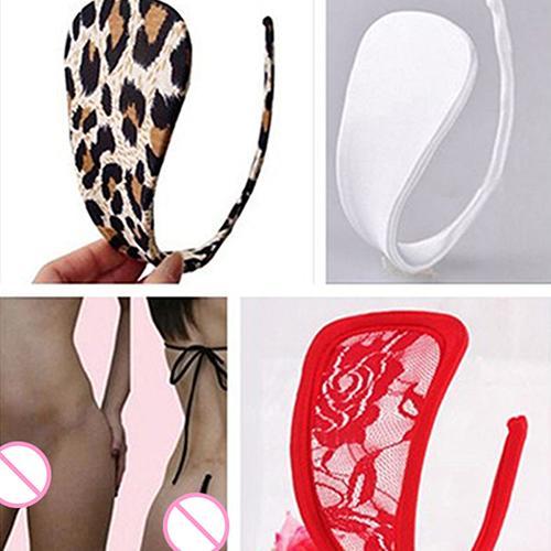 Women Sexy C-String Open Back Thong Underwear Panties Sleepwear Nightwear Christmas Gifts Sexy Panties Erotic Majtki Seksowne