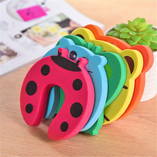 Cute Cartoon Style Anti-pinch Safety Baby Silicone Door Stop Crash Pad Thickening Mute Fenders Protective Wall Mat