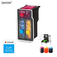 DMYON CL 41 Color Refillable Ink Cartridge for Canon Pixma MP140 MP150 MP160 MP180 MP190 MP210 MP220 MP450 MP470 Printer