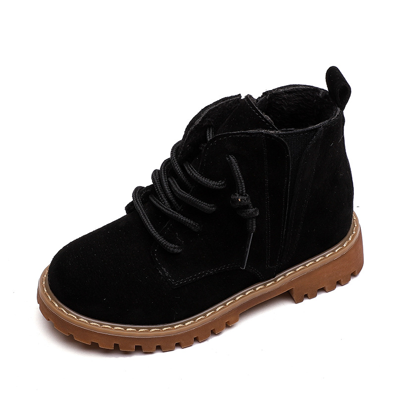 Image 3 - Winter Kids Boots For Boys 2019 Genuine Leather Children Snow Boots Sneakers Toddler Girl Winter Shoes Plush Warm Martin Boots-in Boots from Mother & Kids