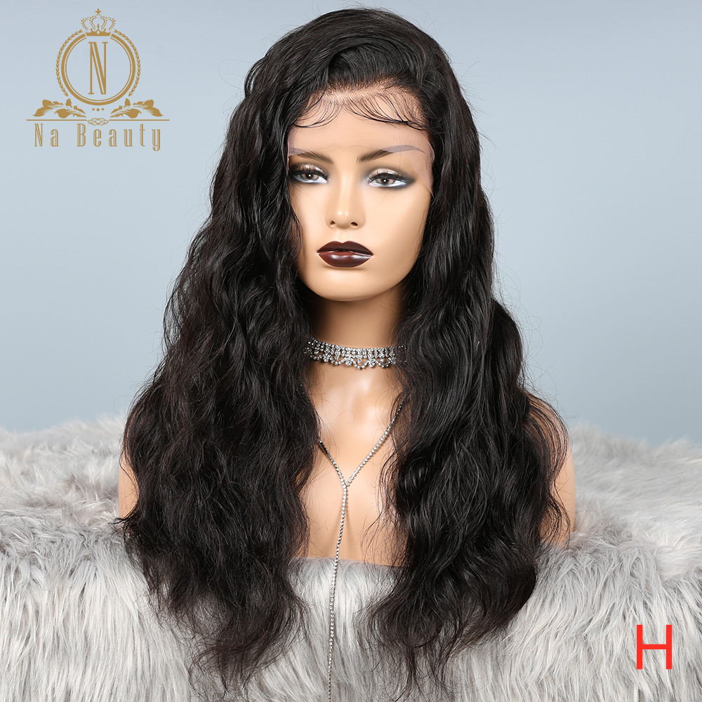 13x6 HD Transparent Lace Front Human Hair Wig Pre Plucked 360 Lace Frontal Wig Body Wave Bleached Knots 180 Density Nabeauty