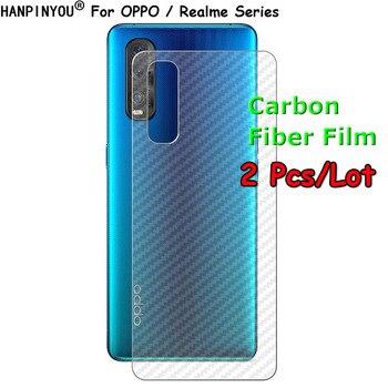 Перейти на Алиэкспресс и купить 2 шт./лот задняя пленка для OPPO Realme Find X2 A52 A72 A92 C3 6 Pro Neo Lite 5G 3D защита для заднего экрана из углеродного волокна (не стекло)