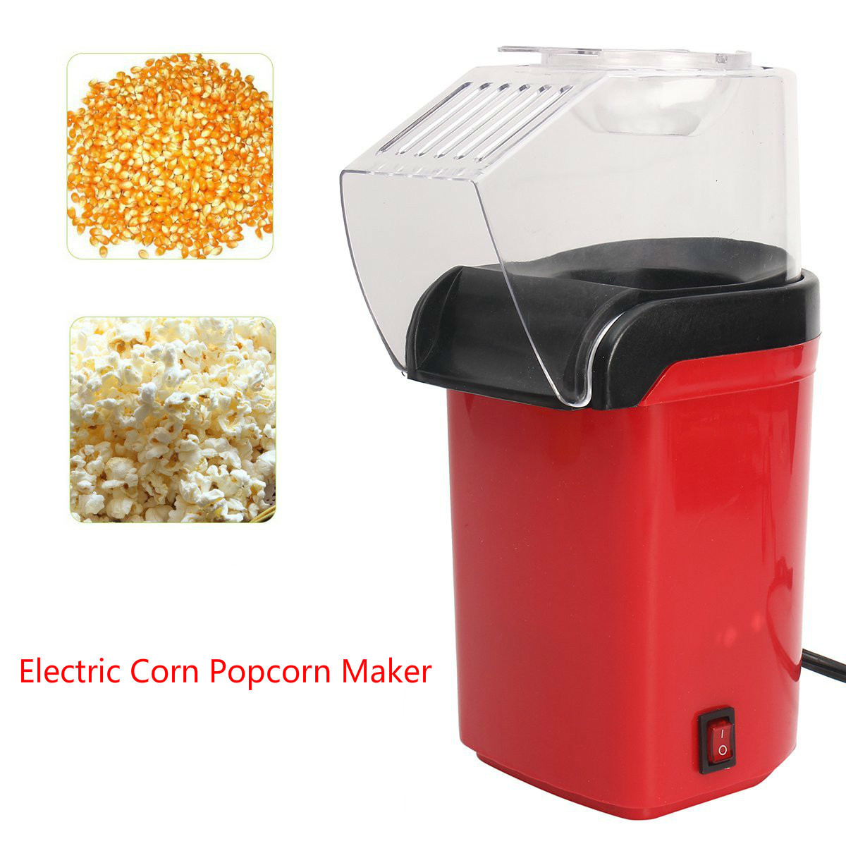 Electric Corn Popcorn Maker 110/220V Household Automatic Mini Hot Air Popcorn Making Machine DIY Corn Popper Children Gift
