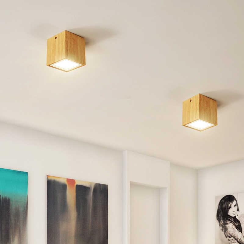 modern led ceiling light fixtures for living room bedroom indoor lighting fixture design wood round square lamp home decoration