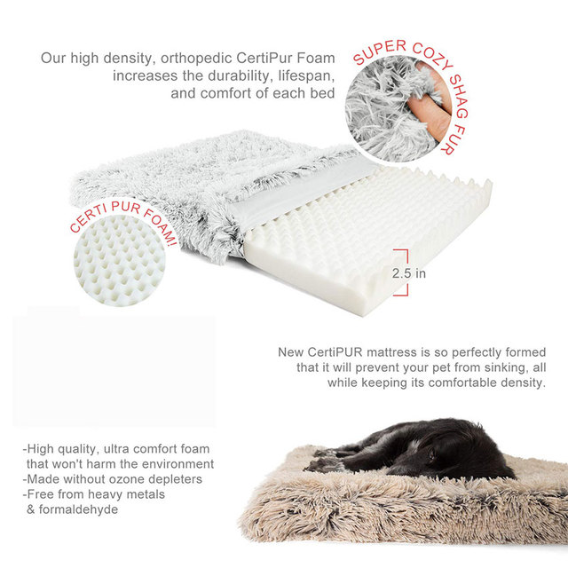 Pet Dog Bed Mattress Sleeping Mat Dog Blanket Cat Bed Sofa Cushion Memory Foam Breathable Oxford Bottom Orthopedic Pet Bed 2