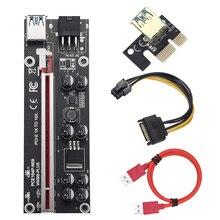 Placa de riser ver009s plus pci e 60cm pci express 1x para 16x usb 3.0 cabo conector sata para 6pin para mineração de placa de vídeo gráfica