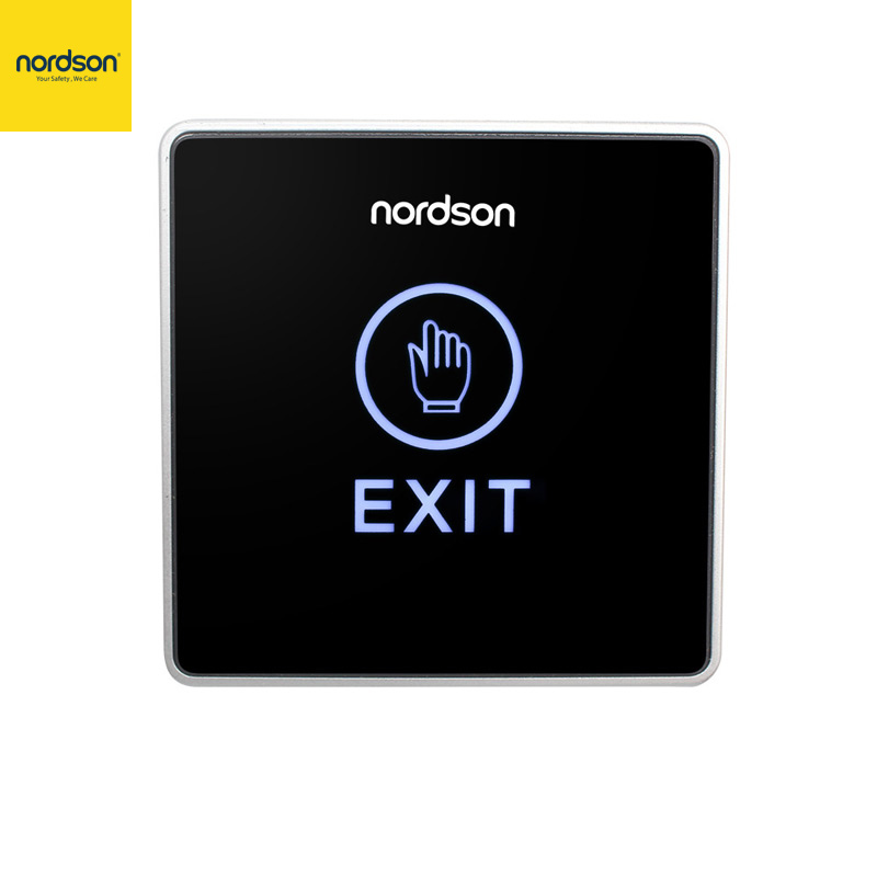 Nordson Original Door Exit Button Touch Switch Push Release For Access Control System Signal LED Indicator Output NO,NC, COM