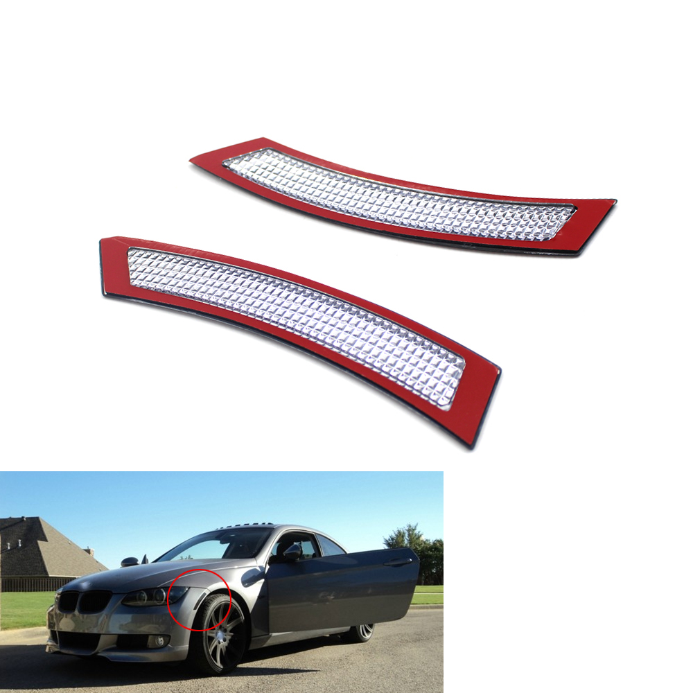 Pair Front Side Bumper Reflector Compatible with BMW 2007-2013 E92 E93 28i 328Ci 328xi 335i 335is 335xi M3