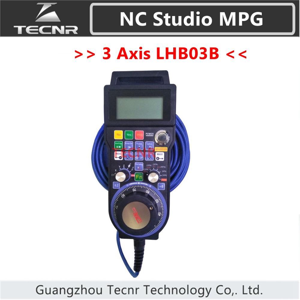 XHC NCStudio LHB03B CNC Hand pulse generator MPG 3 axis NC Studio handwheel  support V5 V8 version for engraving machine|nc studio|handwheel cnc|  - title=