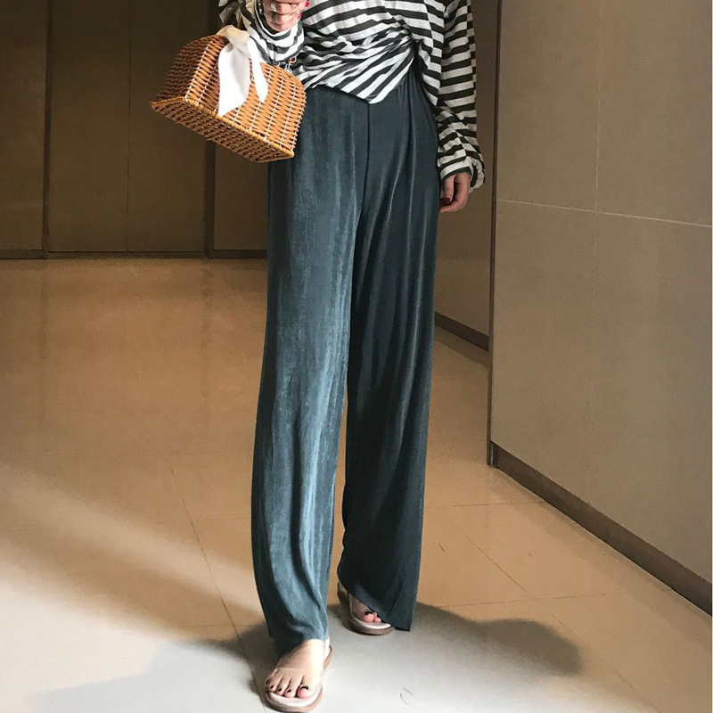 Mazefeng 2019 Women   Wide     Leg     Pants   Female Trousers Floor   Pants   Female Casual Spring Summer Loose Cotton Loose   Pants   Four Color