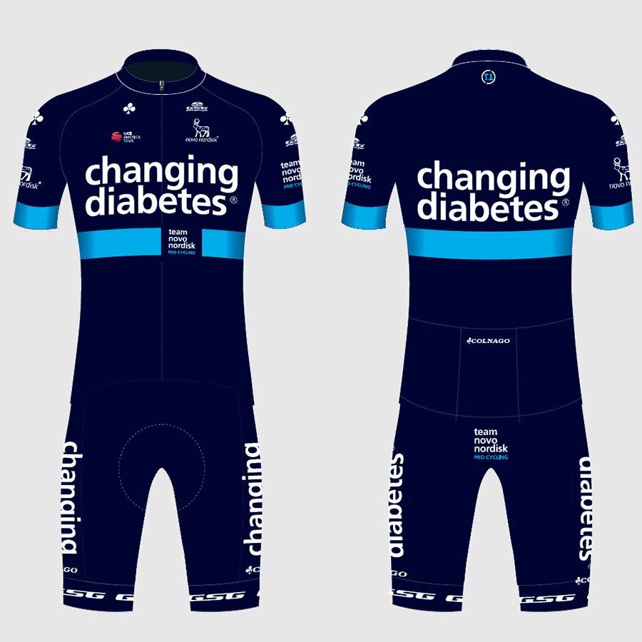 Equipe novo nordisk colnago camisa de ciclismo terno 2019 roupas personalizadas maillot bicicleta engrenagem topos wear ropa ciclismo conjunto hombre