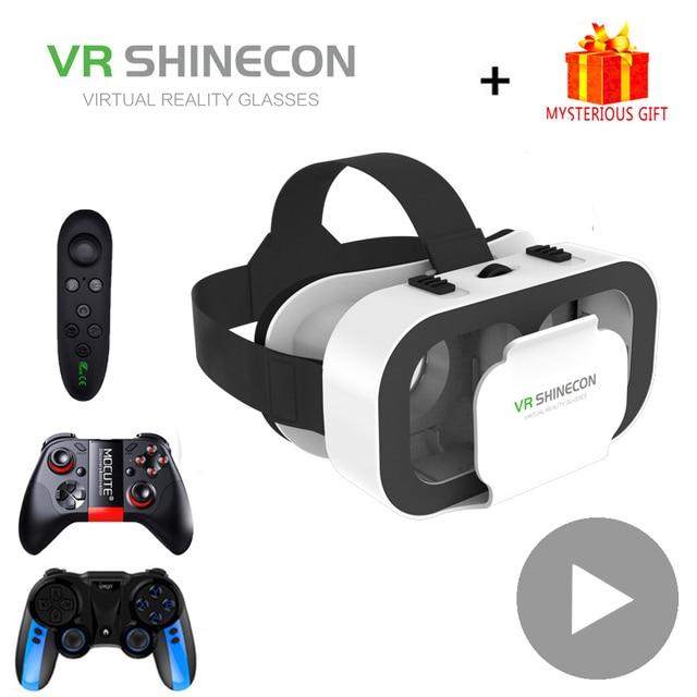 VR Shinecon Helmet 3D Glasses Virtual Reality For Smartphone Smart Phone Headset Goggles Casque Wirth Viar Binoculars Video Game 1