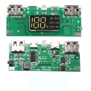 Image 4 - Cargador de batería de 15000mAh para móvil, 4x caja de almacenamiento de la batería 18650, con USB, tipo C, Micro USB, sin batería