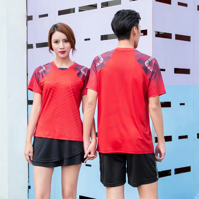 2019 New Style Quick-Dry Table Tennis Wear Sports Set Men And Women Youth Students Sports Running Badminton Clothing Shirt