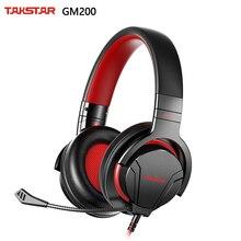 Профессиональная игровая гарнитура Takstar GM200 со съемным микрофоном, высокая производительность и удобство ношения