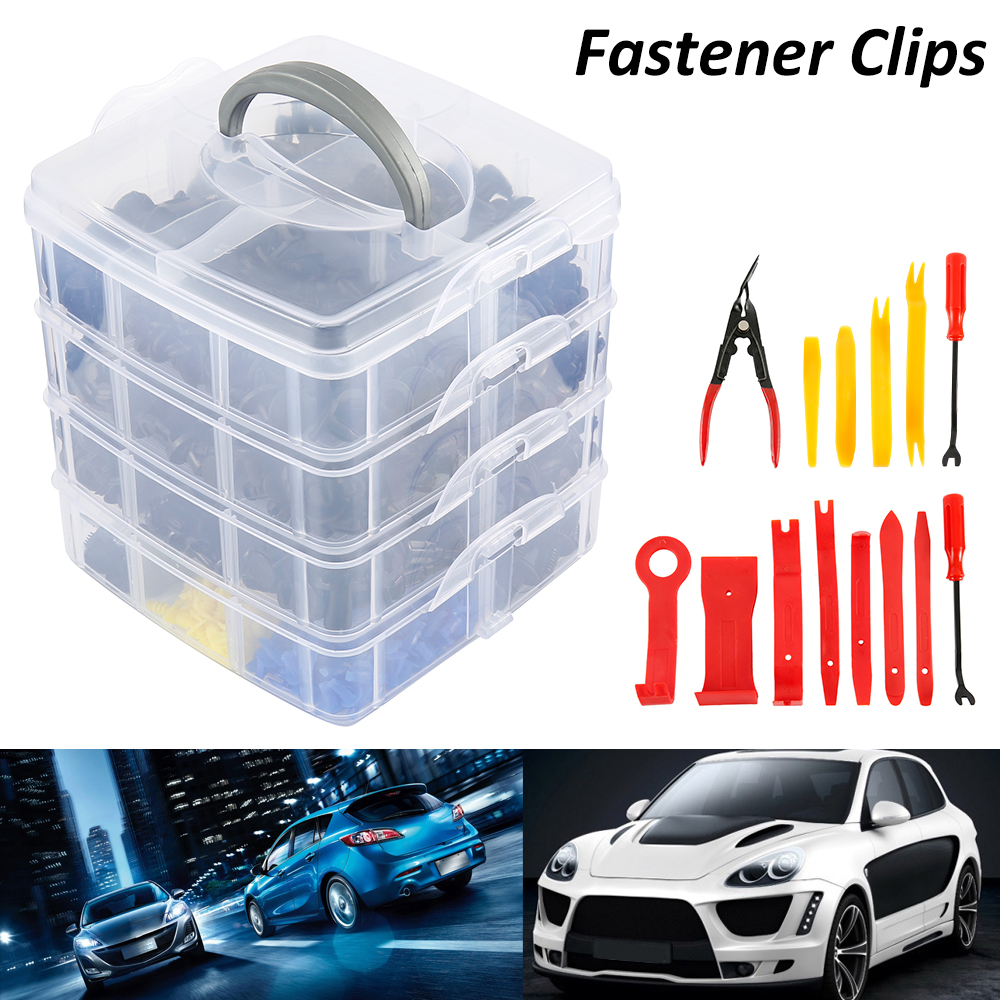 Bumper Fastener Clips,415 Pcs 18 Sizes Plastic Car SUV Trim Clips Retainer Panel Bumper Fastener With Contain Box Fasteners Clips Retainer Clips